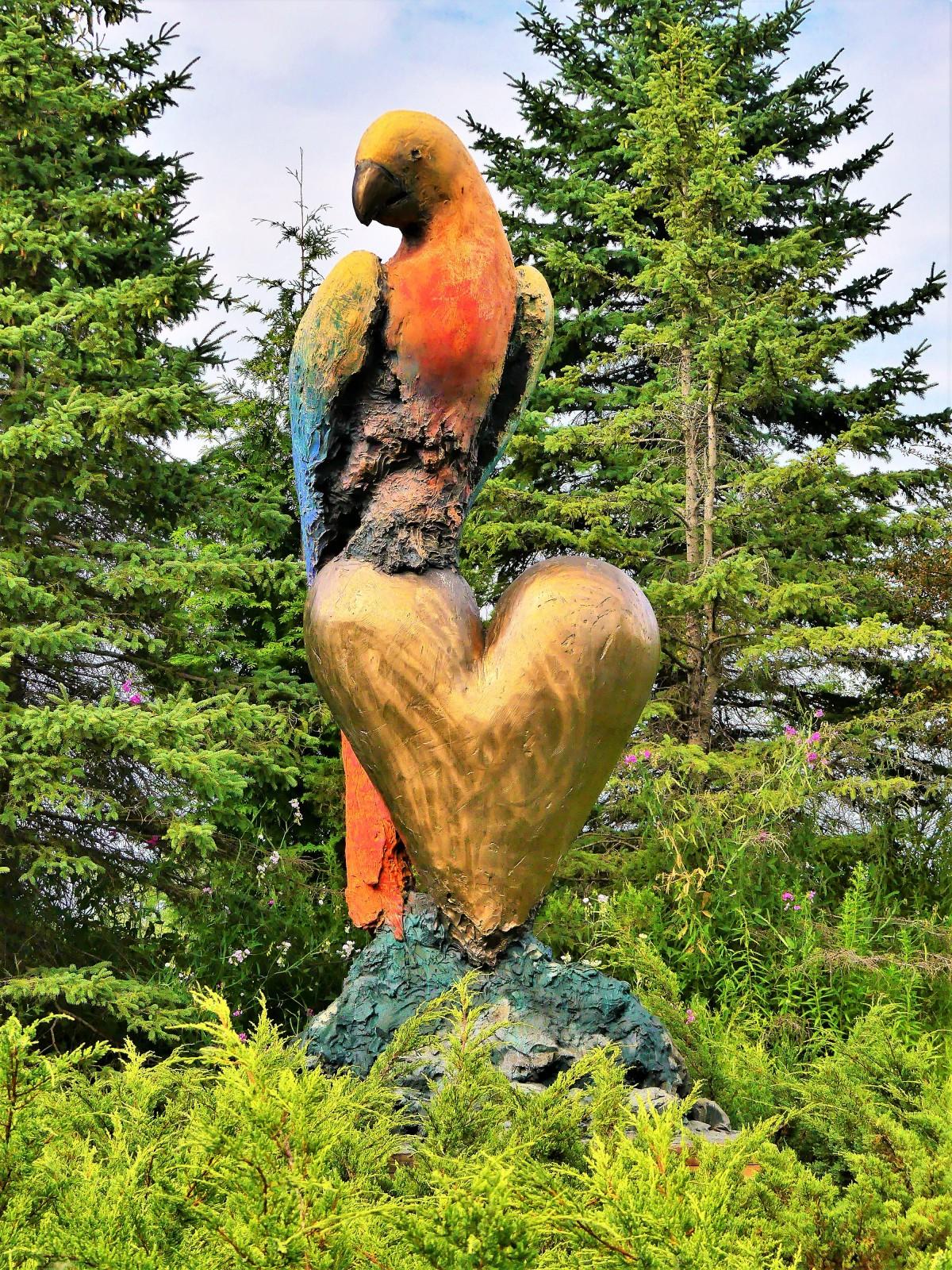 Jim Dine's Large Parrot Screams Color