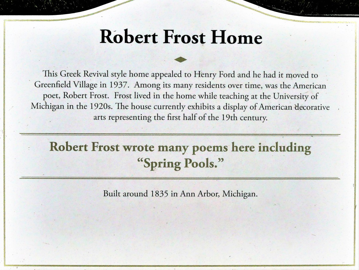 Robert Frost home sign