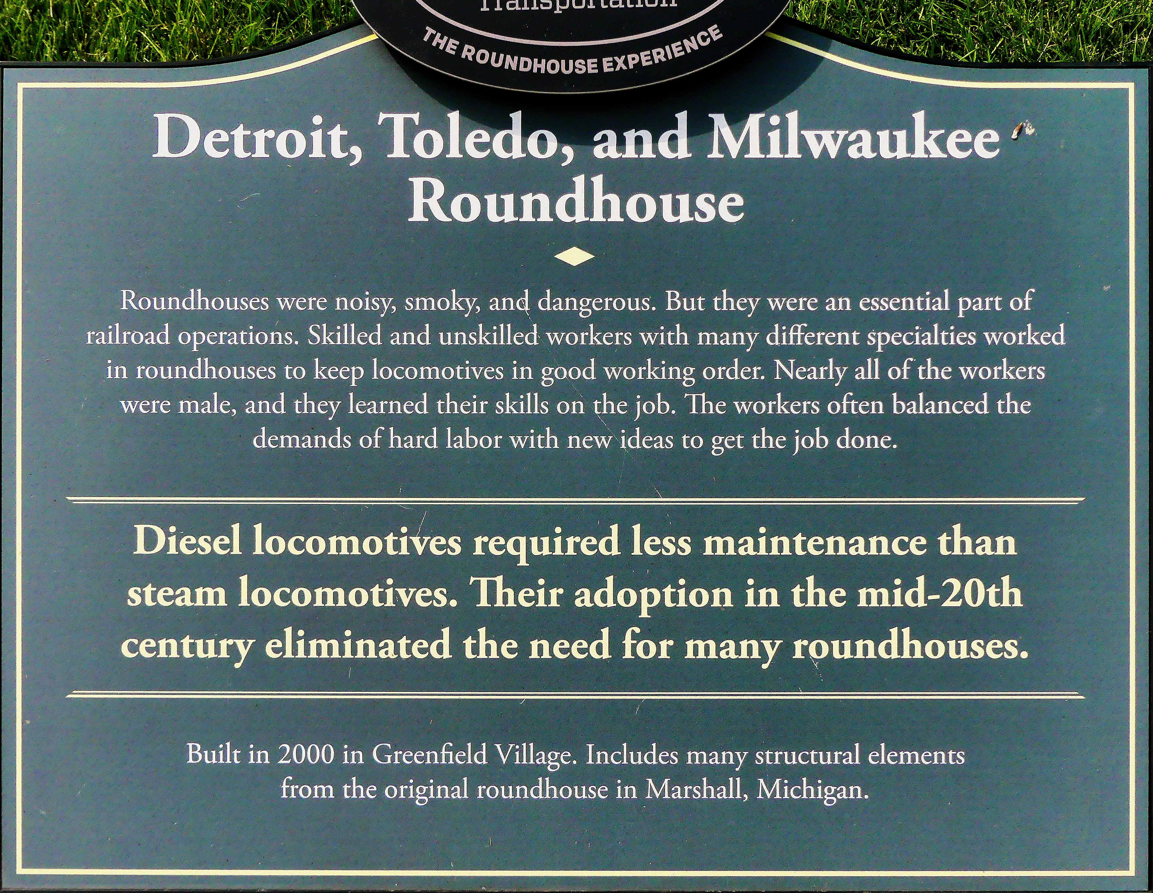 Roundhouse sign