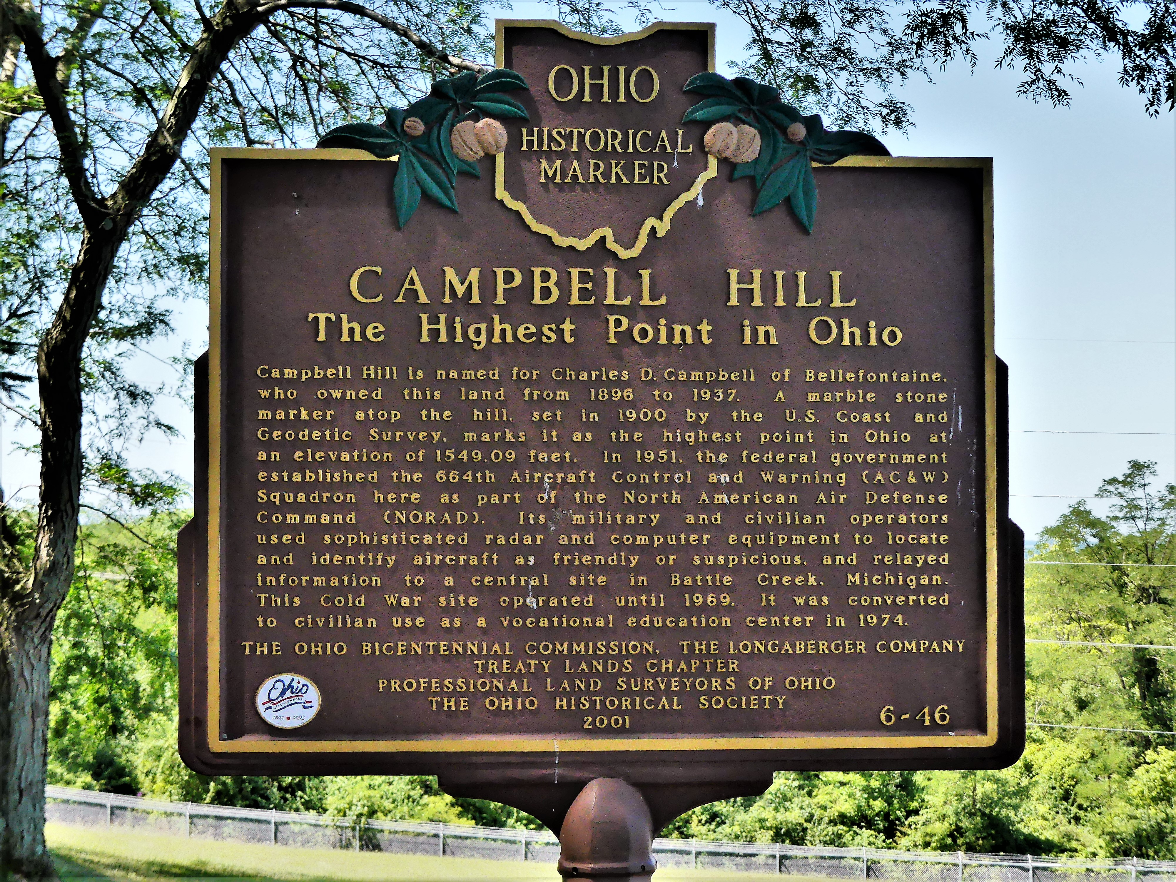 Campbell Hill marker