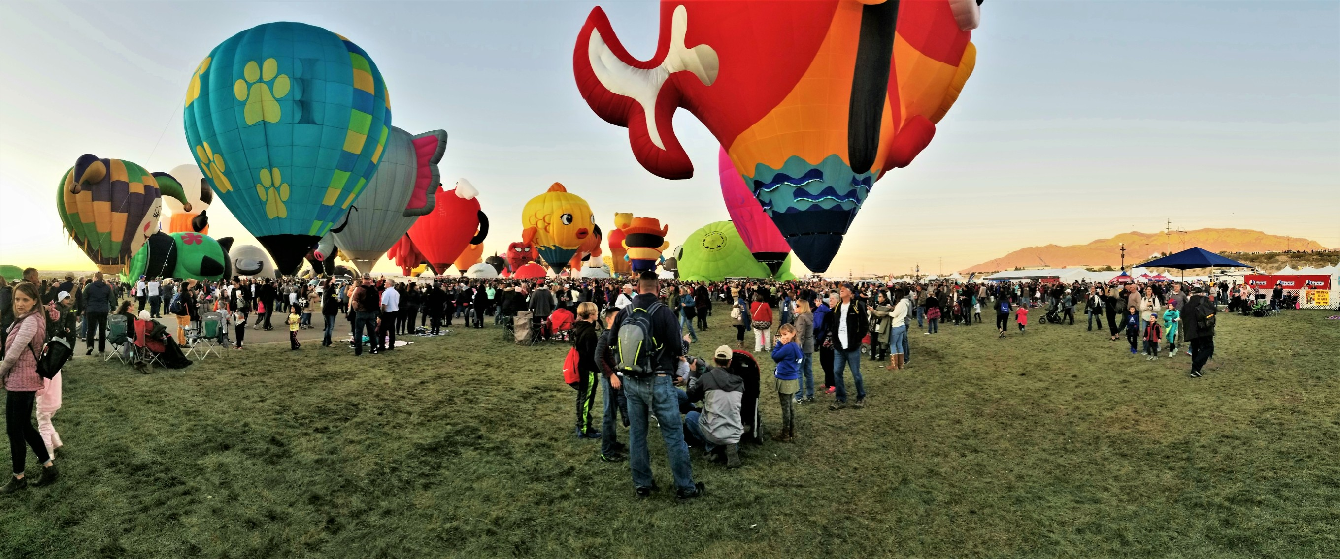 staging the balloons