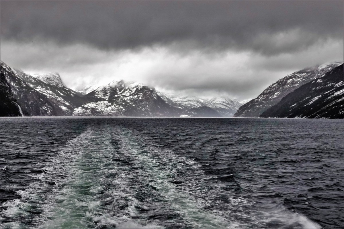 through fjord storm