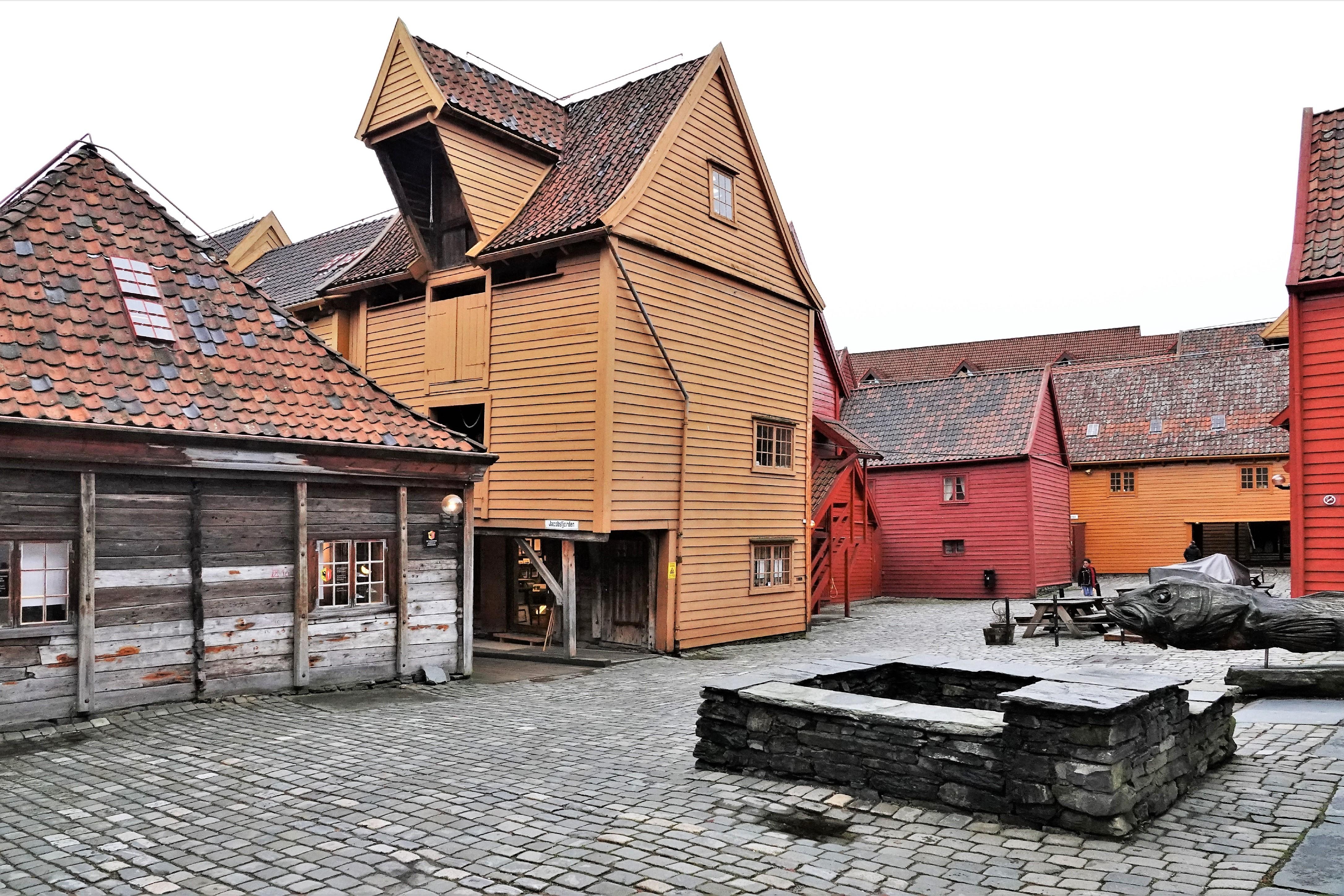 Bryggen courtyard