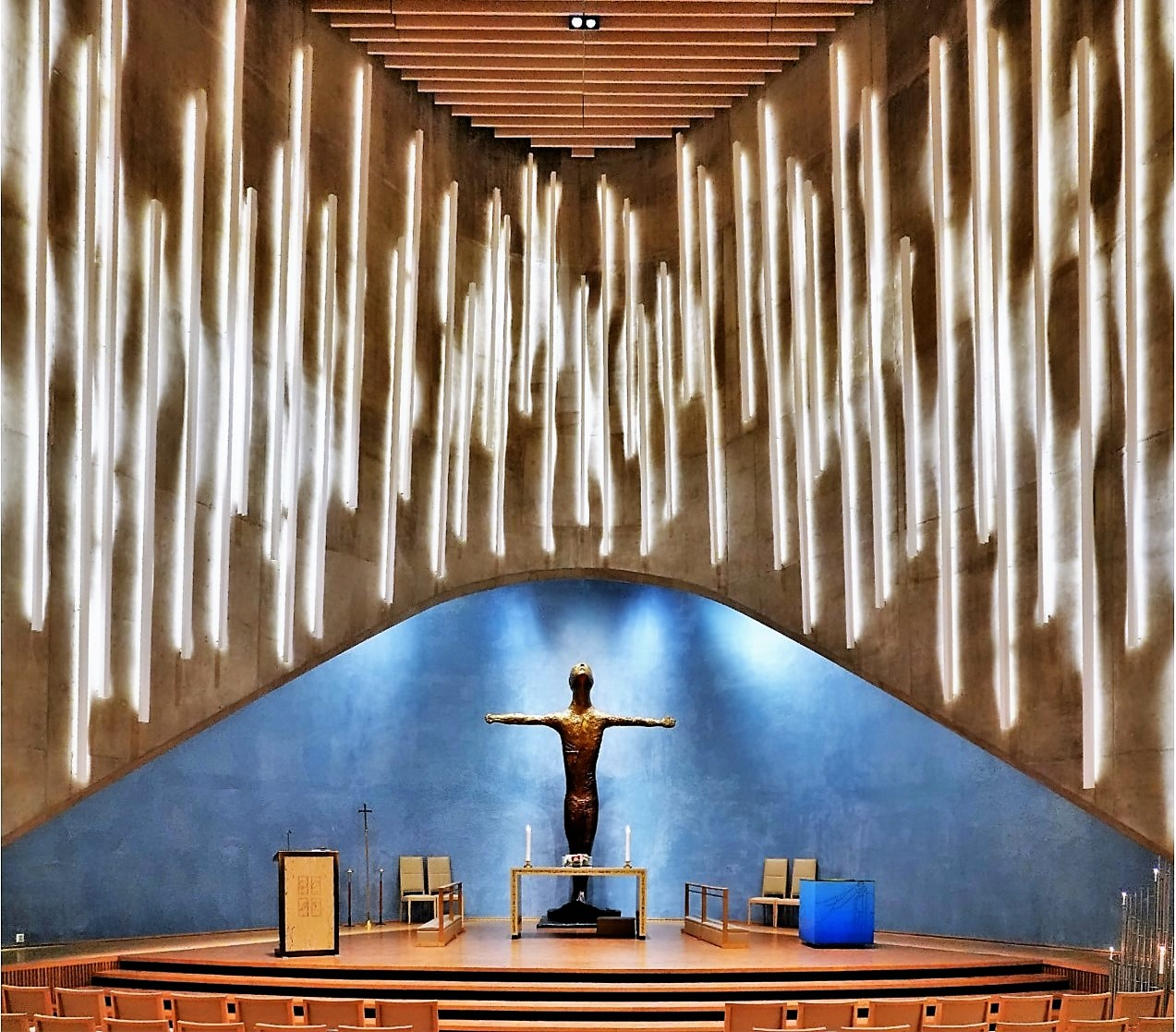 Light shafts and altar